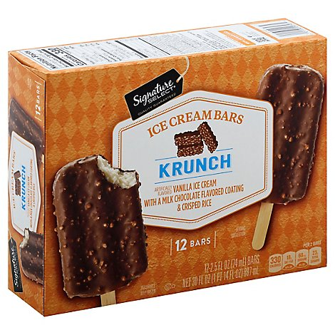 Signature SELECT Ice Cream Bars Krunch - 12-2.5 Fl. Oz.