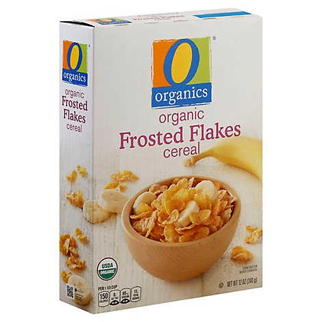 O Organics Organic Cereal Sweetened Corn Frosted Flakes - 12 Oz