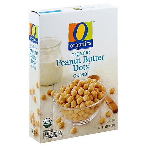 O Organics Organic Cereal Sweetened Peanut Butter Flavored Peanut Butter Dots - 10 Oz