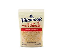 Tillamook Sharp White Cheddar Shredded Cheese Farmstyle Cut - 8 Oz
