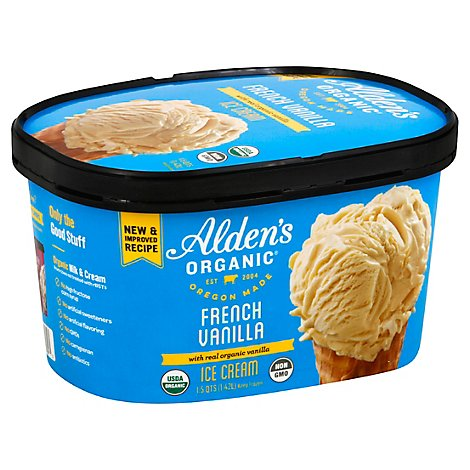 Aldens Organic French Vanilla Ice Cream - 48 Fl. Oz.