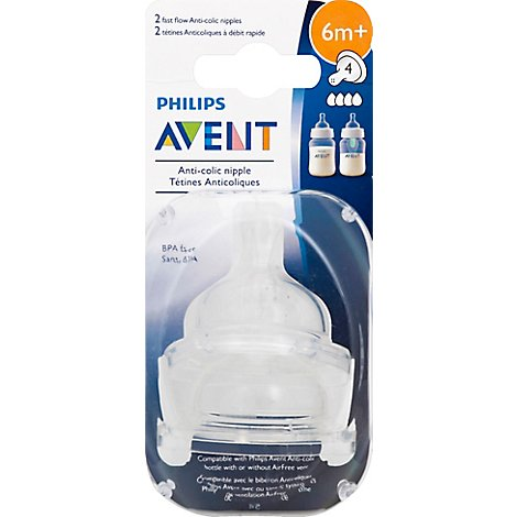 Avent Nipple Anti Colic Fst Flw 2 - Each