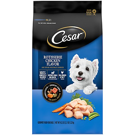 Cesar Food for Dogs Gourmet Rotisserie Chicken Bag - 2.7 Lb