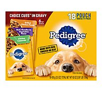 PEDIGREE Dog Food In Gravy Chicken Beef Noodles Vegetables & Chicken Casserole - 18-3.5 Oz
