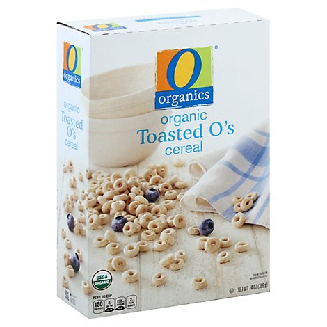 O Organics Organic Cereal Oat & Rice Toasted Os - 14 Oz
