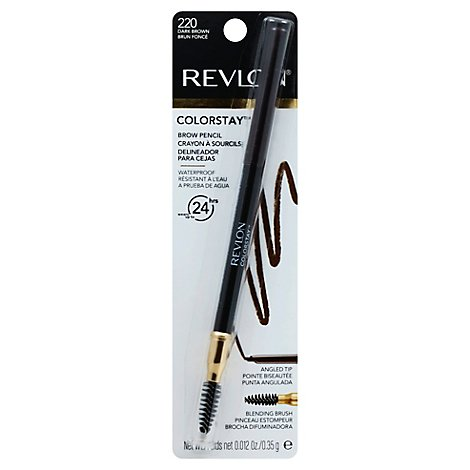 Revlon ColorStay Brow Pencil Dark Brown 220 - 0.012 Oz
