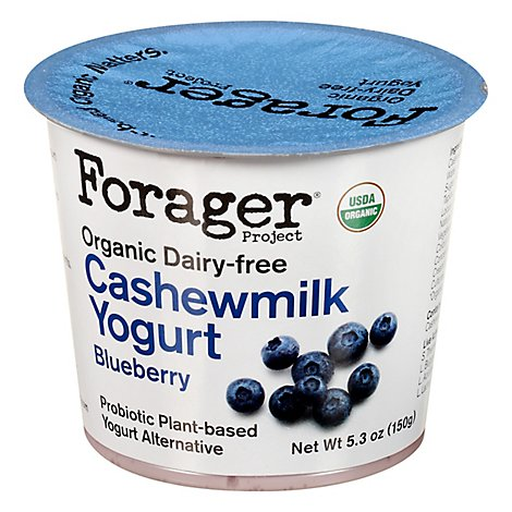 Forager Project Organic Yogurt Alternative Cashewmilk Dairy Free Blueberry - 5.3 Oz