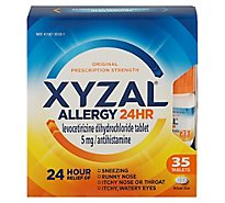XYZAL Allergy Antihistamine Tablets 24 Hr Original Prescription Strength 5 mg - 35 Count
