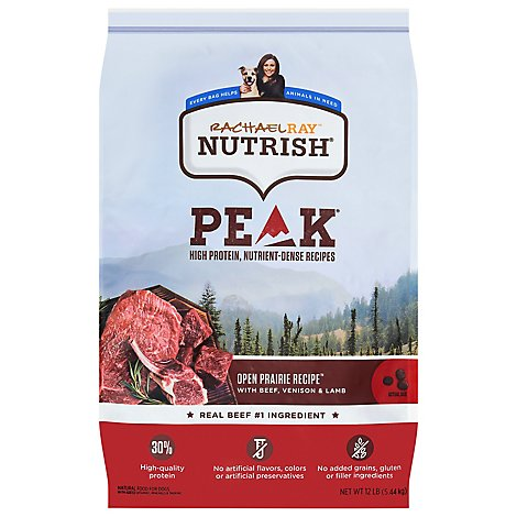 Rachael Ray Nutrish Adult Dry Dog Food Peak with Beef Venison & Lamb - 12 Lb