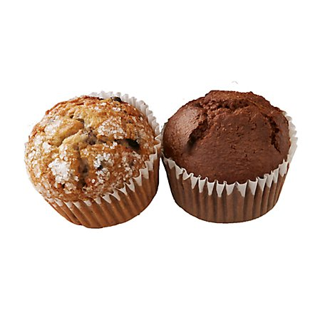 Bakery Muffins Blueberry/Bran 2 Count - Each