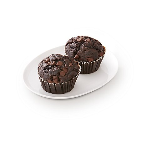 Bakery Muffins Chocolate Double 2 Count - Each