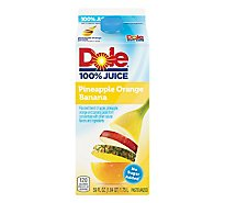 Dole 100% Juice Pineapple Orange Banana Chilled - 59 Fl. Oz.