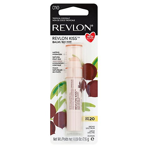 Revlon Kiss Lip Balm Spf 20 Tropical Coconut 010 - 0.09 Oz