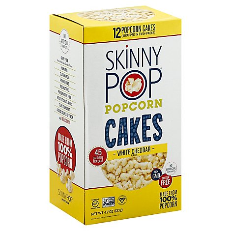 Skinny Pop Popcorn Cake Lg 3 Cheese - 4.2 Oz