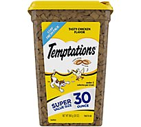 TEMPTATIONS Classic Cat Treats Crunchy And Soft Tasty Chicken Flavor - 30 Oz