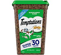 Temptations Treats for Cats Seafood Medley Flavor Super Value Size Tub - 30 Oz