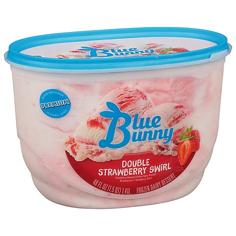 Blue Bunny Ice Cream Double Strawberry - 48 Fl. Oz.