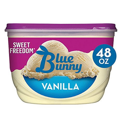 Blue Bunny Sweet Freedom Ice Cream Light Vanilla - 48 Fl. Oz.