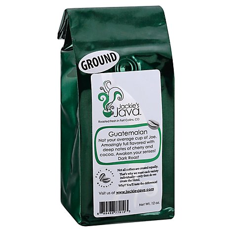 Jackies Java Coffee Ground Guatemalan Estate - 12 Oz