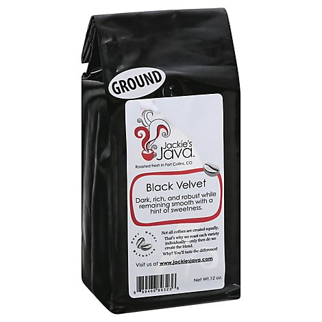 Jackies Java Coffee Ground Black Velvet - 12 Oz