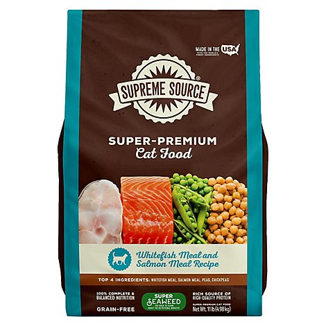 Supreme Source Cat Food Grain Free Adult Whitefish Meal And Salmon - 11 Lb