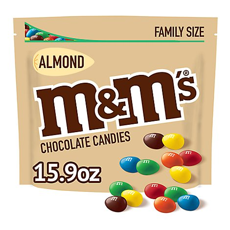 M&Ms Almond Chocolate Candies 15.9 Oz