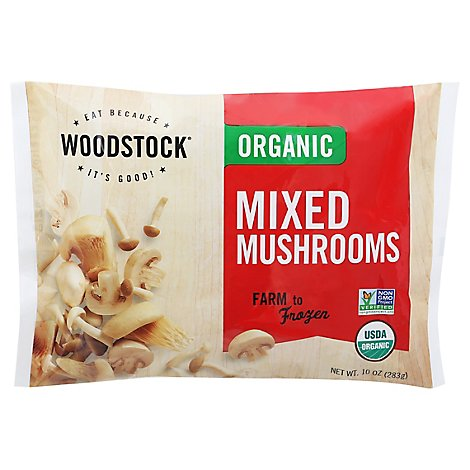 Woodstock Organic Mushrooms Mixed - 10 Oz