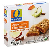 O Organics Organic Fruit & Grain Bars Apple Cinnamon Flavored - 6-1.3 Oz
