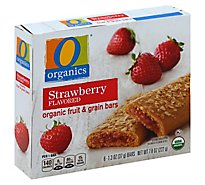 O Organics Organic Fruit & Grain Bars Strawberry - 6-1.3 Oz