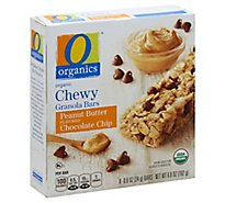 O Organics Organic Granola Bars Chewy Peanut Butter Flavored Chocolate Chip - 8-0.8 Oz