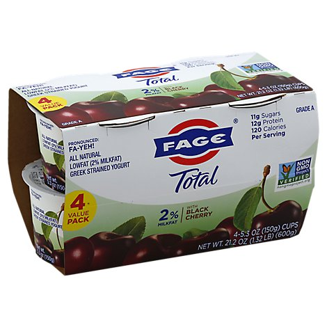 Fage Total 2% Cherry Lowfat Greek Strained Yogurt - 21.2 Oz