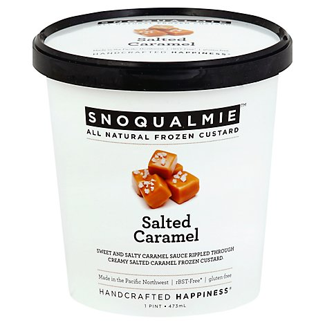 Snoqualmie Custard Salted Caramel - 16 Fl. Oz.