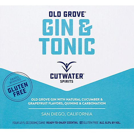 Cutwater Gin And Tonic Rtd - 4-12 Fl. Oz.