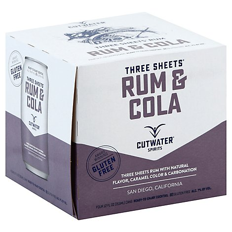 Cutwater Rum And Cola Rtd - 4-12 Fl. Oz.