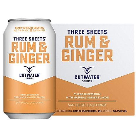 Cutwater Rum And Ginger Rtd - 4-12 Fl. Oz.