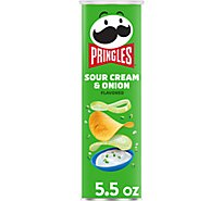 Pringles Potato Crisps Chips Sour Cream & Onion Flavored - 5.5 Oz
