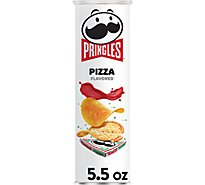 Pringles Potato Crisps Chips Pizza Flavored - 5.5 Oz