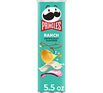 Pringles Potato Crisps Chips Ranch - 5.5 Oz