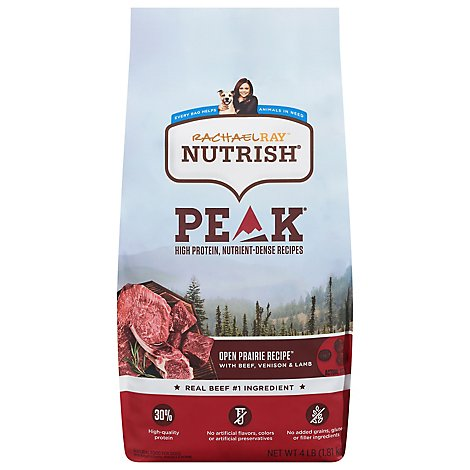 Rachael Ray Nutrish Peak Food for Dogs Open Range Recipe with Beef Venison & Lamb Bag - 4 Lb