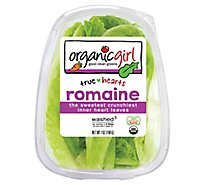 organicgirl Organic Romaine Leaves True Hearts Washed - 7 Oz