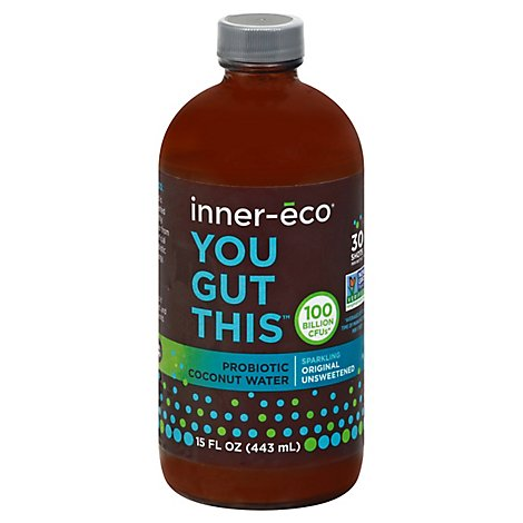 Inner Eco Original Dairy Free Probiotic Kefir Fresh Harvested Coconut Water - 15 Fl. Oz.