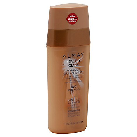 Almay Healthy Glow Makeup + Gradual Self Tan SPF 20 Medium 300 - 1 Fl. Oz.
