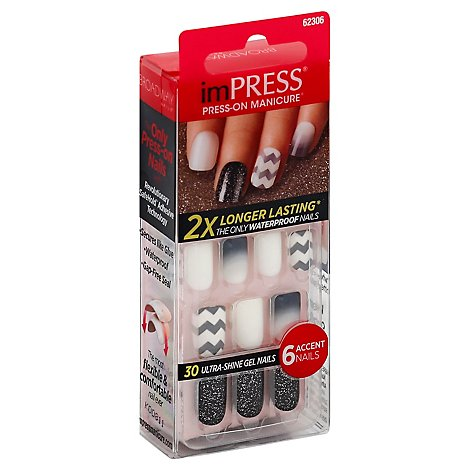 imPRESS Broadway Nails Press-On Manicure Flash Mob BIPA050 - 30 Count