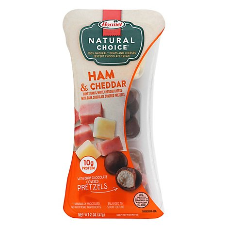 Hormel Natural Choice Honey Ham & Mild White Cheddar Cheese - 2 Oz