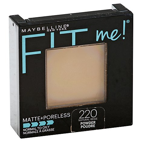 Maybel Fit Me Mattepore Pwd Nat Bge - 0.3 Oz