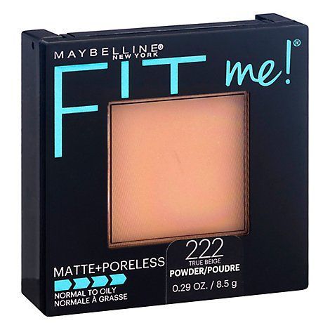 Maybel Fitmeporeless Mat Pwd True Bg - 0.3 Oz