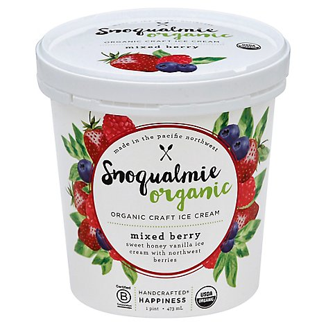 Snoqualmie Ice Cream Mixed Berry Organic - 16 Fl. Oz.