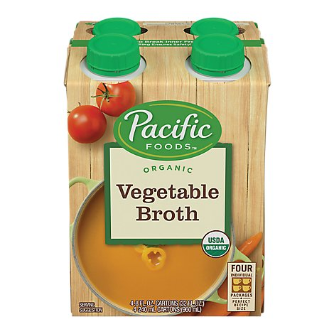 Pacific Organic Broth Vegetable - 4-8 Fl. Oz.