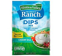 Hidden Valley Ranch Dip Mix Creamy Dill - .9 Oz