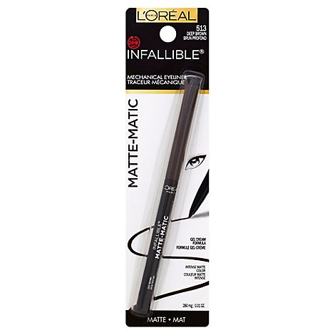 Lorea Infallible Matte Lnr Brown - 0.01 Fl. Oz.